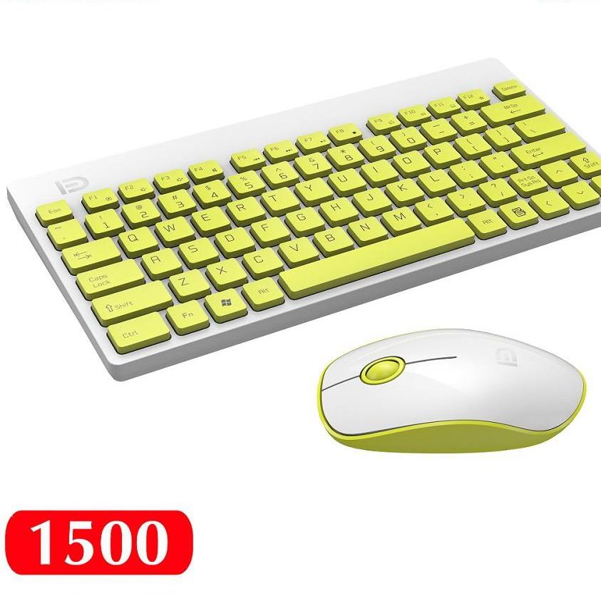 Bộ Bàn phím và chuột không dây mini 2.4G Wireless FD 1500 Fashion pin dùng 12 THÁNG (HÀNG CHÍNH HÃNG)