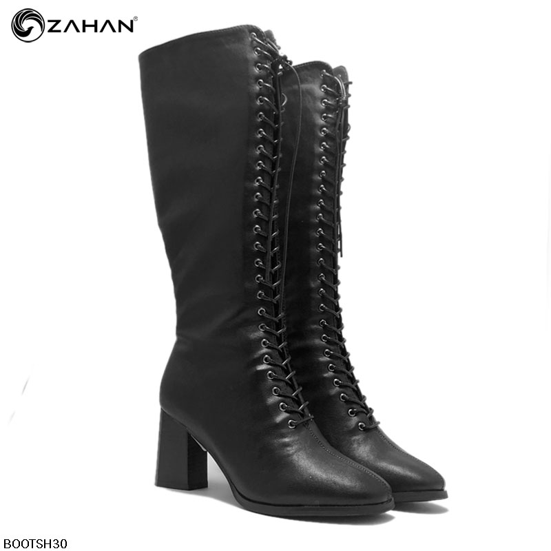Boots cao cổ nữ, buộc dây, 5 cm, BOOTSH30