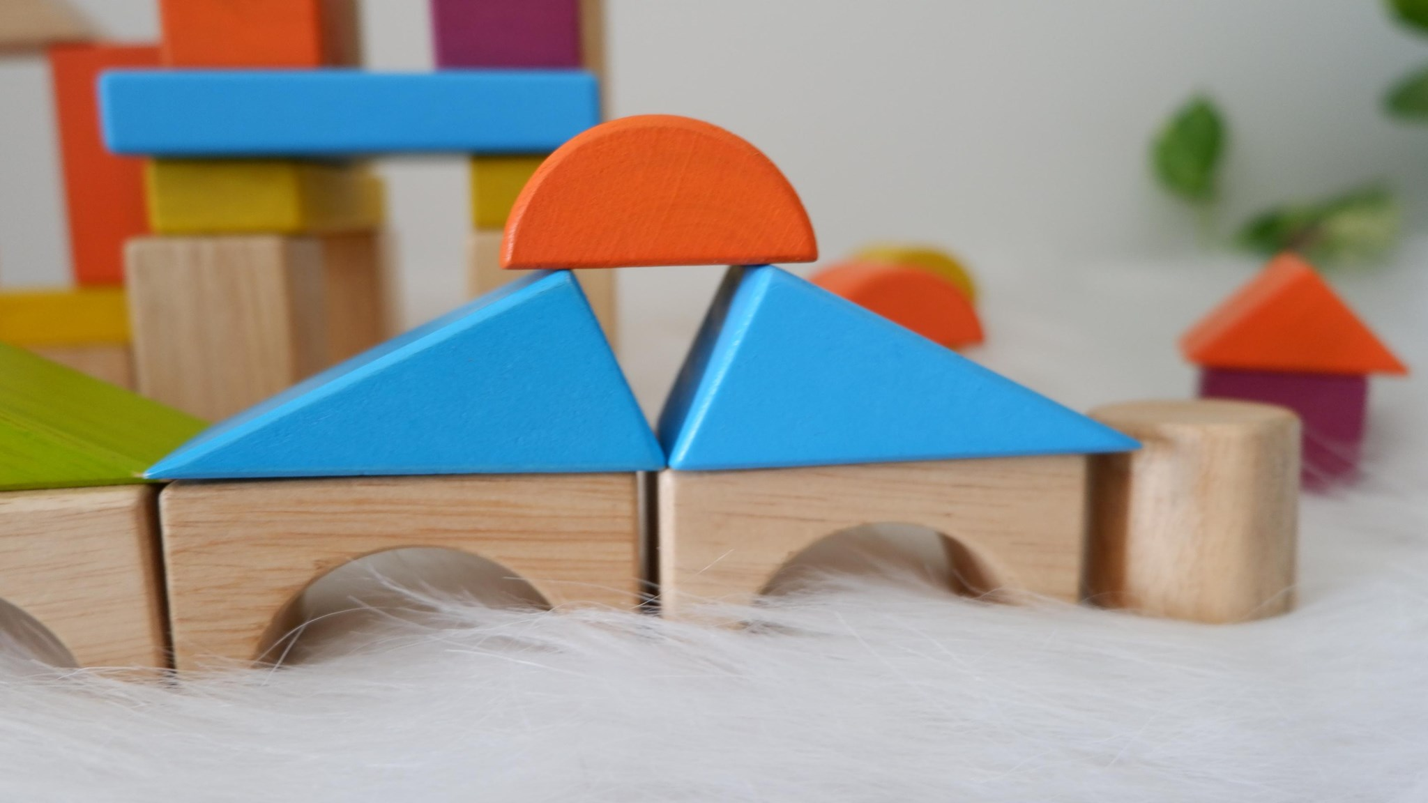 Bộ xếp hình sáng tạo 54 chi tiết Montessori