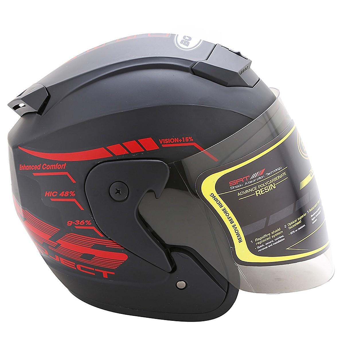 Mũ Bảo Hiểm có kính 3/4 đầu thể thao bò cạp cá tính