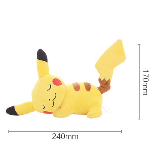 Gấu Bông Pikachu Ngủ Say (25 Cm) Gb118 (Tặng 1 Đèn Led 8 Bóng Siêu Sáng Cắm Cổng Usb)