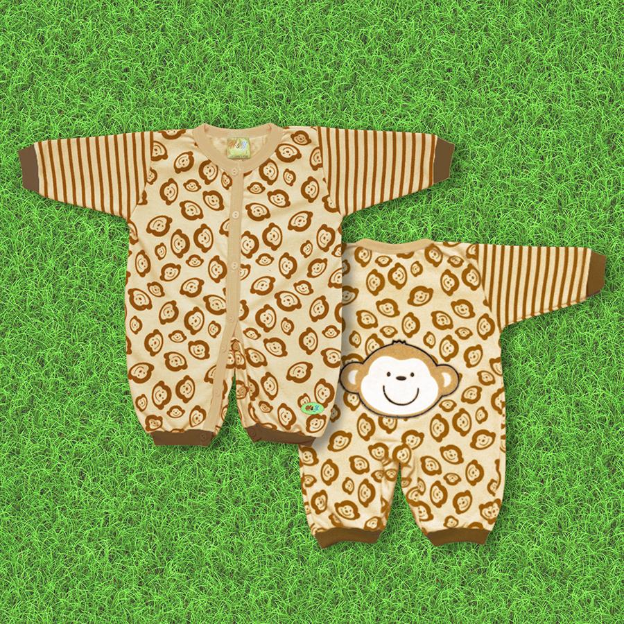 Bodysuit sơ sinh Mông Khỉ tinh nghịch cho bé 0-12 tháng