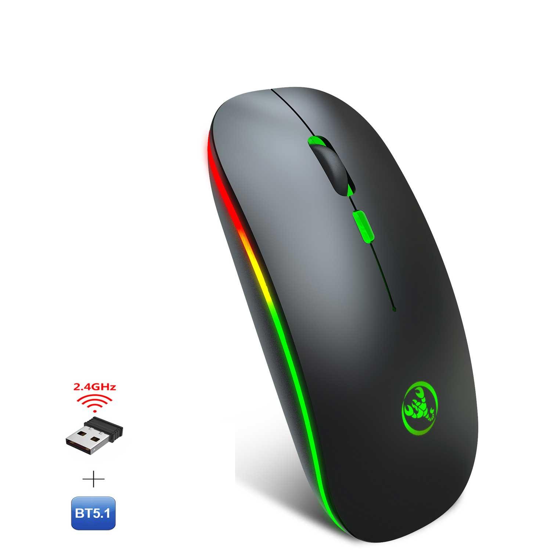 Chuột không dây Bluetooth, chuột không dây usb 2.4Hz HXSJ T18 - Hàng chính hãng