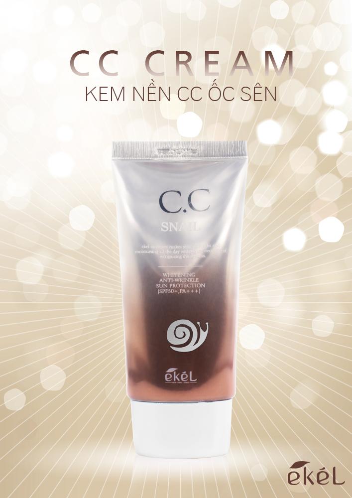 Kem nền C.C ốc sên Ekel Snail C.C Cream