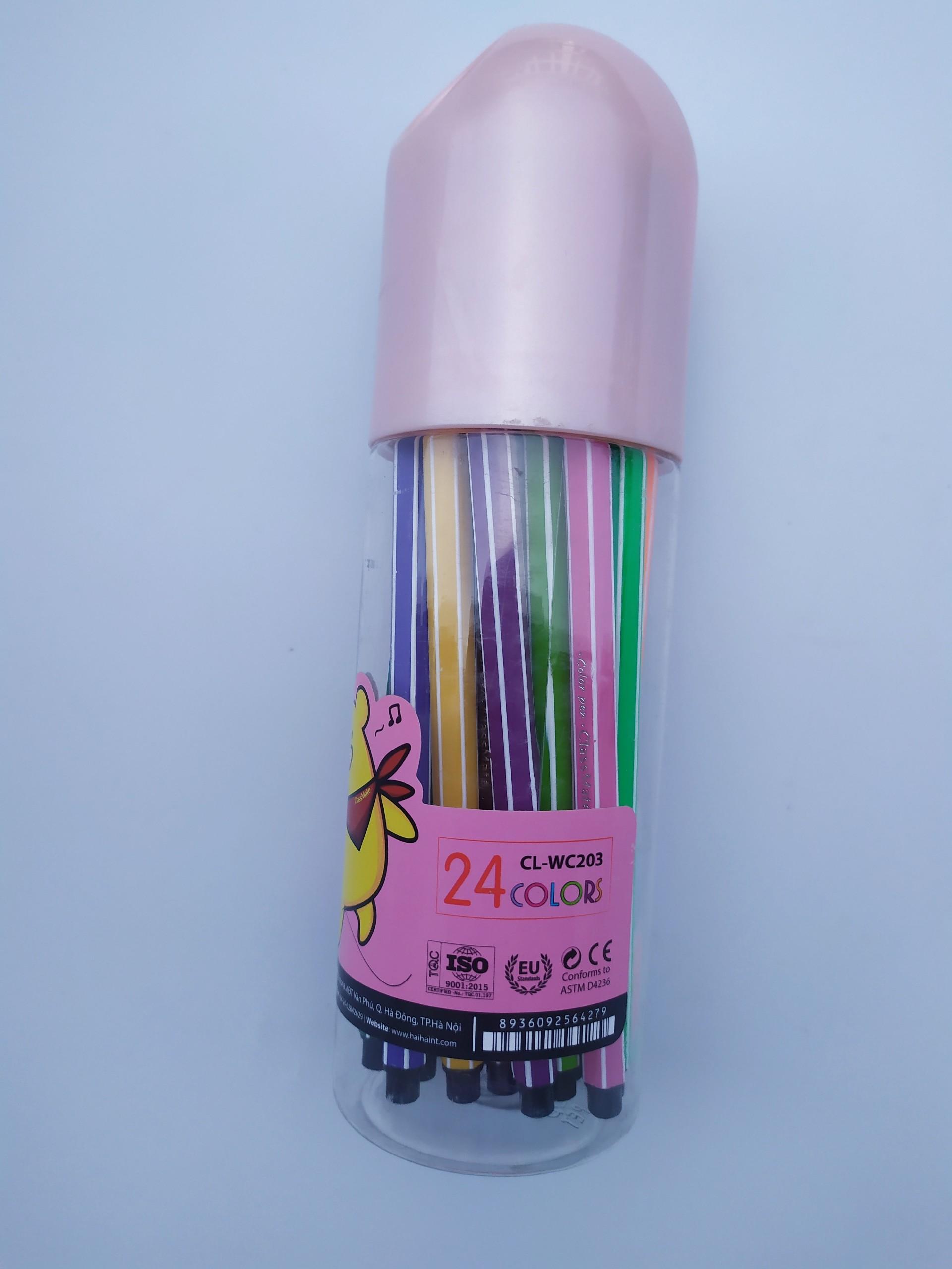 Ống dạ màu 24 màu (cao) CL-WC203