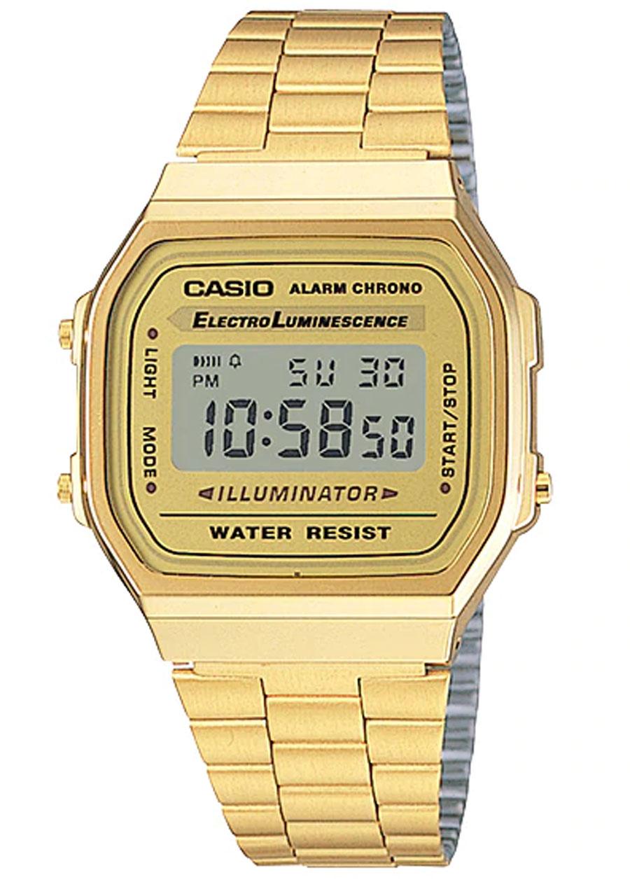 Đồng Hồ Casio A168WG-9WDF Dây Kim Loại Mạ Vàng - Tuổi Thọ Pin 7 Năm