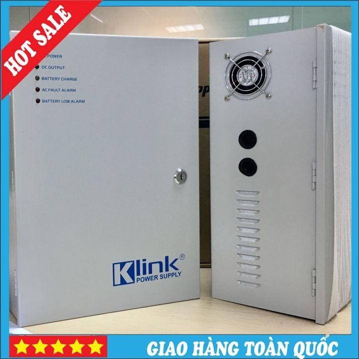 Bộ chuyển nguồn và cấp nguồn dự phòng tự động cho hệ thống camera giám sát 16 cổng ra UPS Klink-Hàng chính hãng