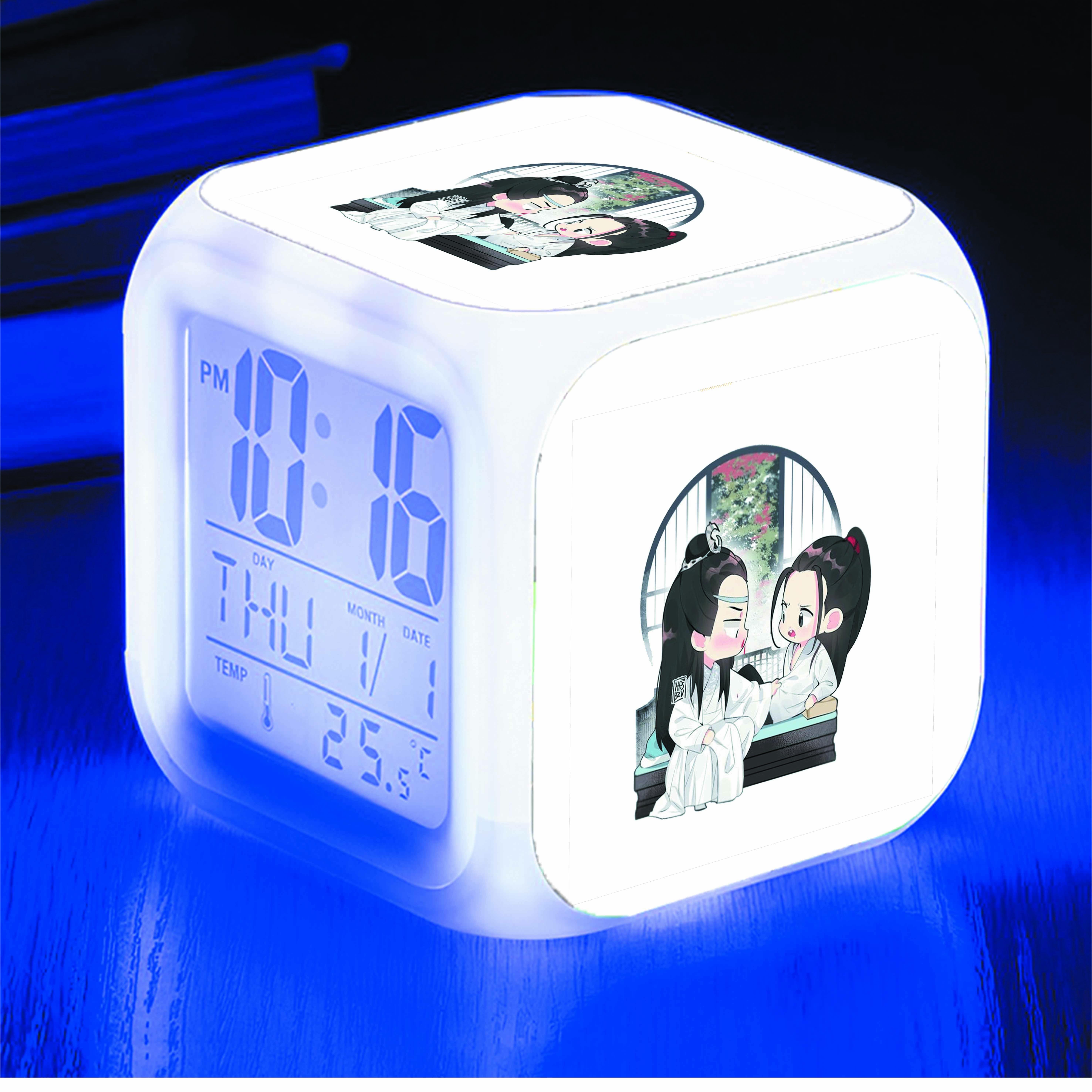 Đồng hồ báo thức để bàn IN HÌNH Bác Quân Nhất Tiêu
