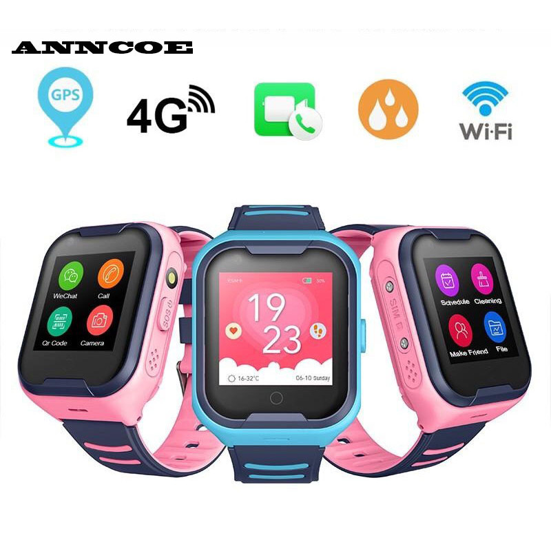 Đồng hồ thông minh trẻ em Anncoe AC86F nghe gọi bằng Video Call Định vị 4G + GPS + Wifi Chống nước IP67+ Hàng Chính Hãng