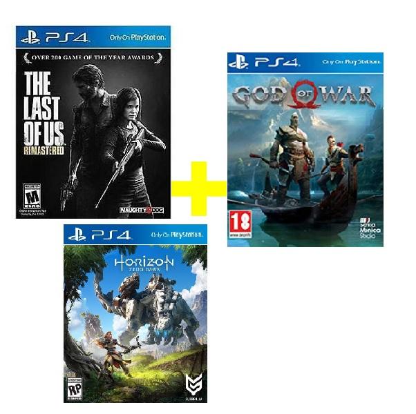 Bộ Máy PS4 Slim 1TB Model CUH-2218B MEGA kèm 3 Game God Of War ,The Last Of Us ,Horizon Zero Dawn  - Hàng Chính Hãng
