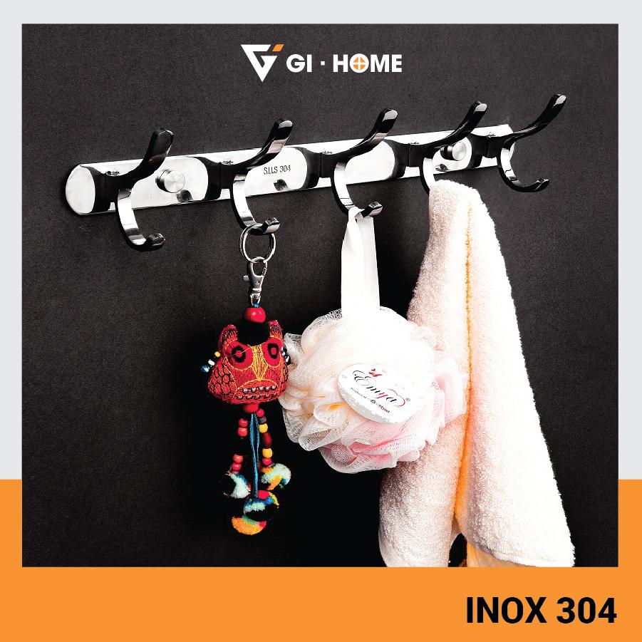 Móc áo inox 304 cao cấp Gi-Home MA01 - Móc treo tường, treo vật dụng cao cấp inox 304