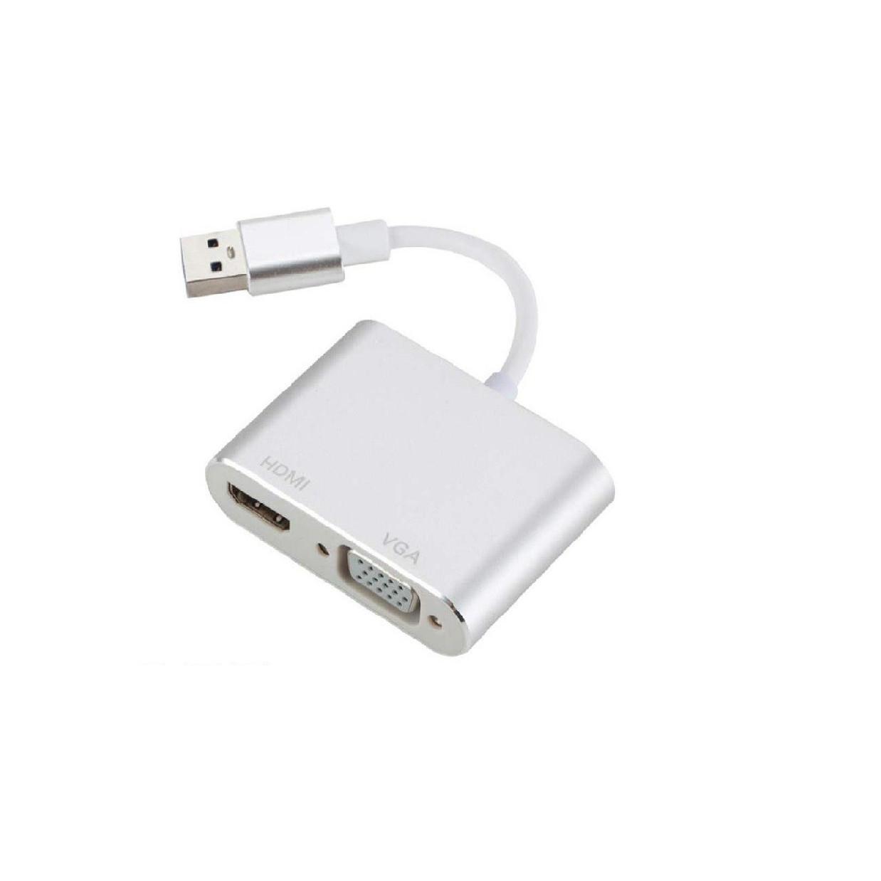 Cáp Chuyển USB 3.0 ra HDMI và VGA