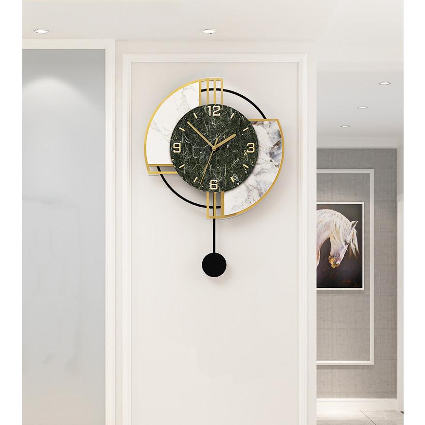Đồng hồ treo tường trang trí nghệ thuật quả lắc Polyester tái chế và Acrylic