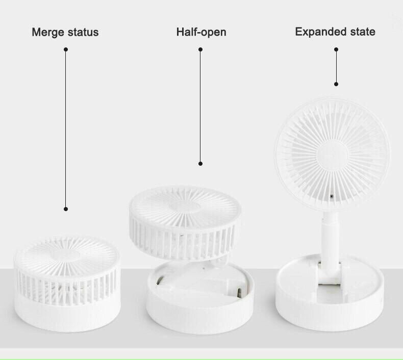 Quạt mini tích điện tiện lợi siêu mát giao màu ngẩu nhiên