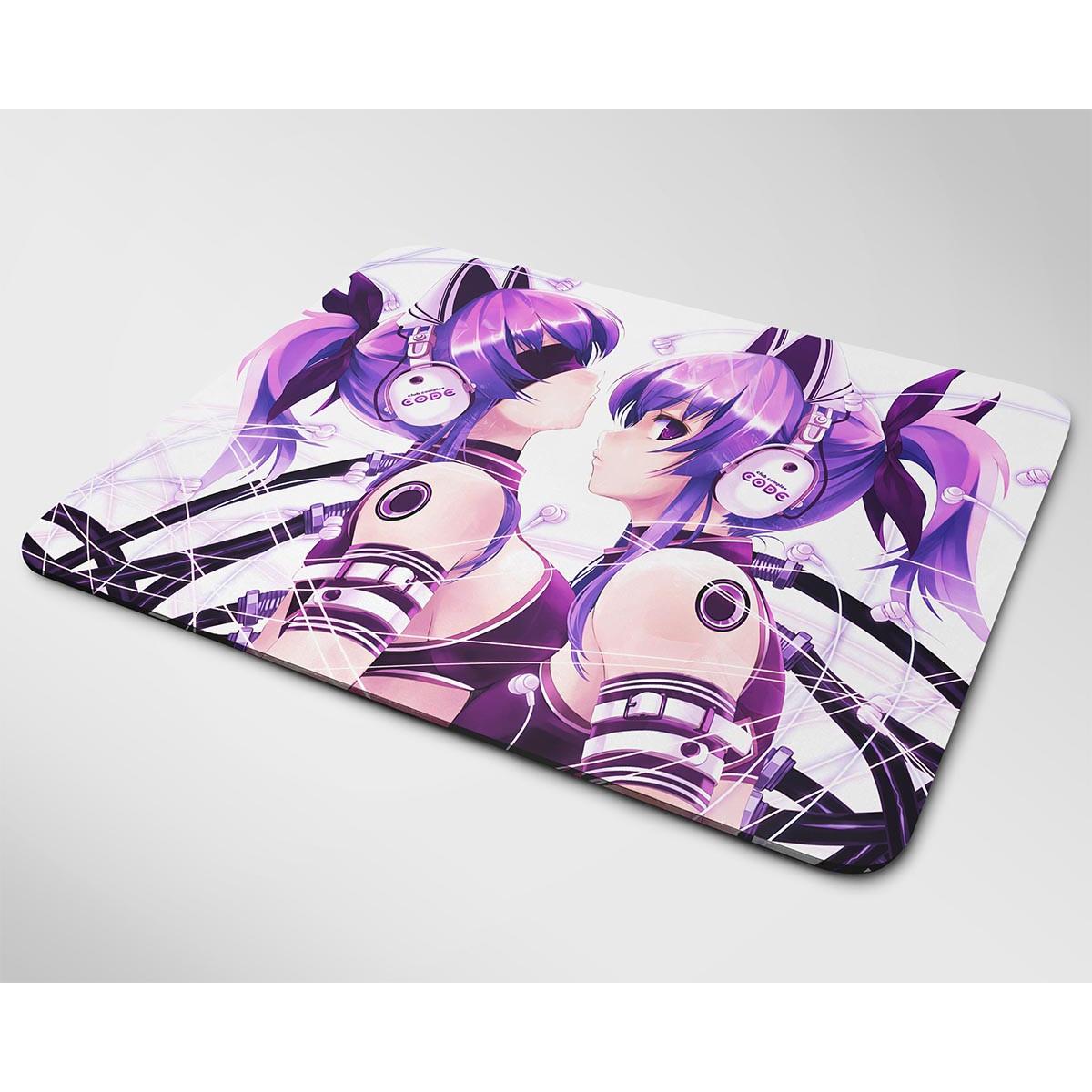 Miếng lót chuột mẫu Anime 2 cô gái tóc tím
