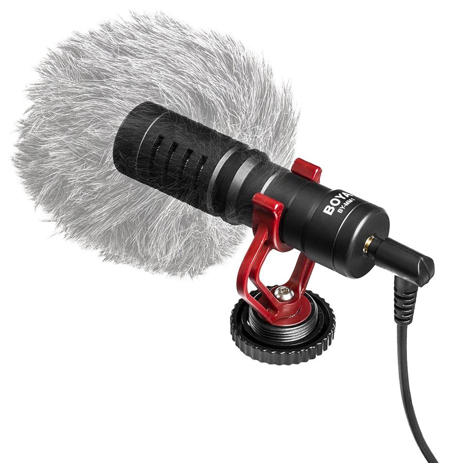 Microphone Cho Máy Ảnh Boya BY-MM1 - Hàng Chính Hãng