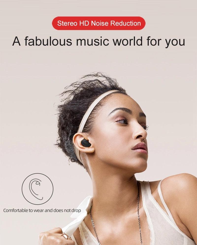 Tai Nghe Bluetooth 5.0 WGW A6S - Chống Nước - Chống ồn - Tích Hợp Micro - Tự Động Kết Nối - Nhỏ gọn - Âm Thanh 8.0 HD - Tương Thích Cao Cho Tất Cả Điện Thoại - CHÍNH HÃNG