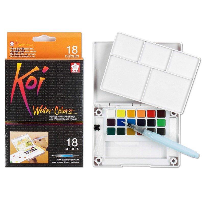 Màu nước nén Koi Water Colors 18 màu