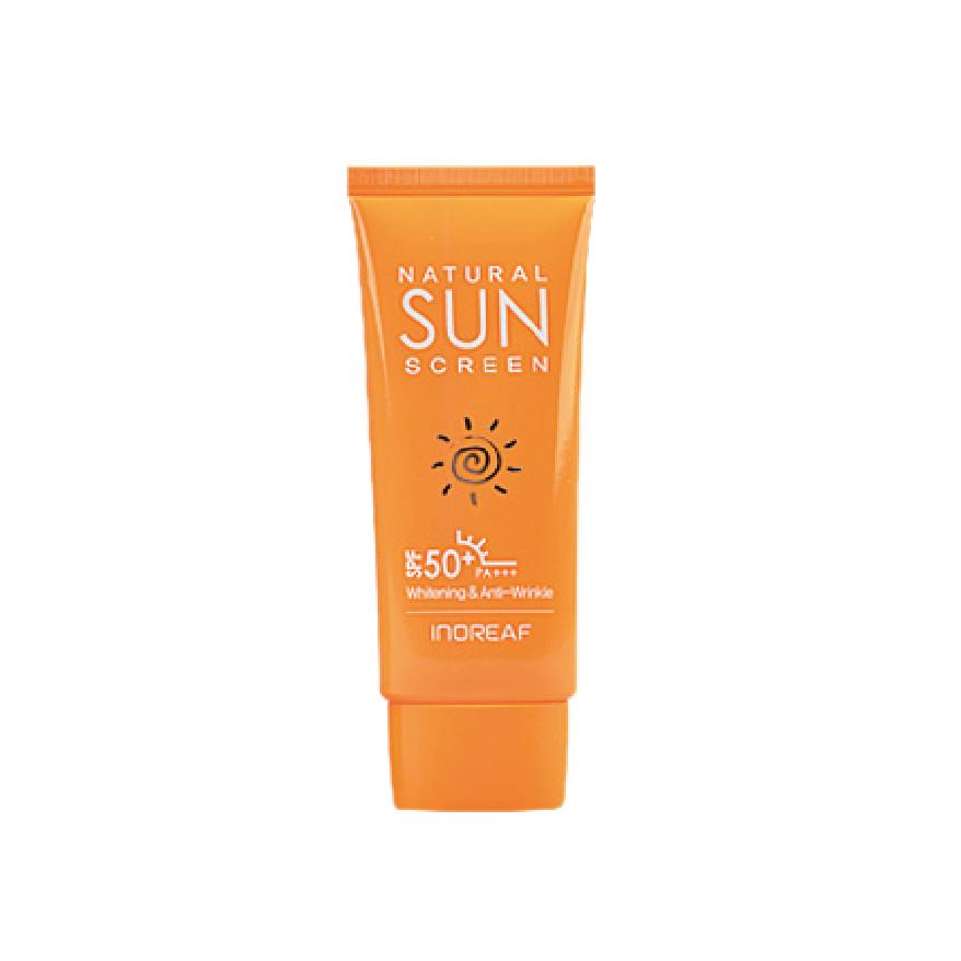 Kem chống nắng dưỡng trắng da BEBECO  Hàn Quốc INOREAF NATURAL SUN SCREEN SPF50 PA