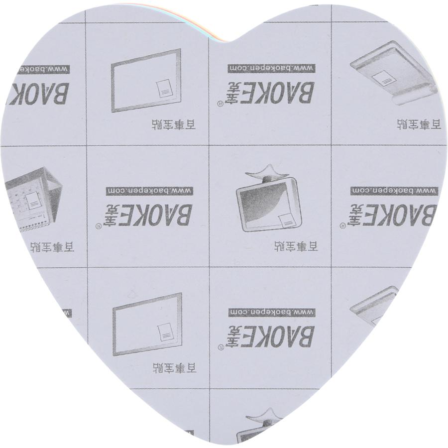 Bộ 2 Xấp Giấy Note Tim 4 Màu Baoke 2006 - 76 x 76 mm (100 sheets/Xấp)
