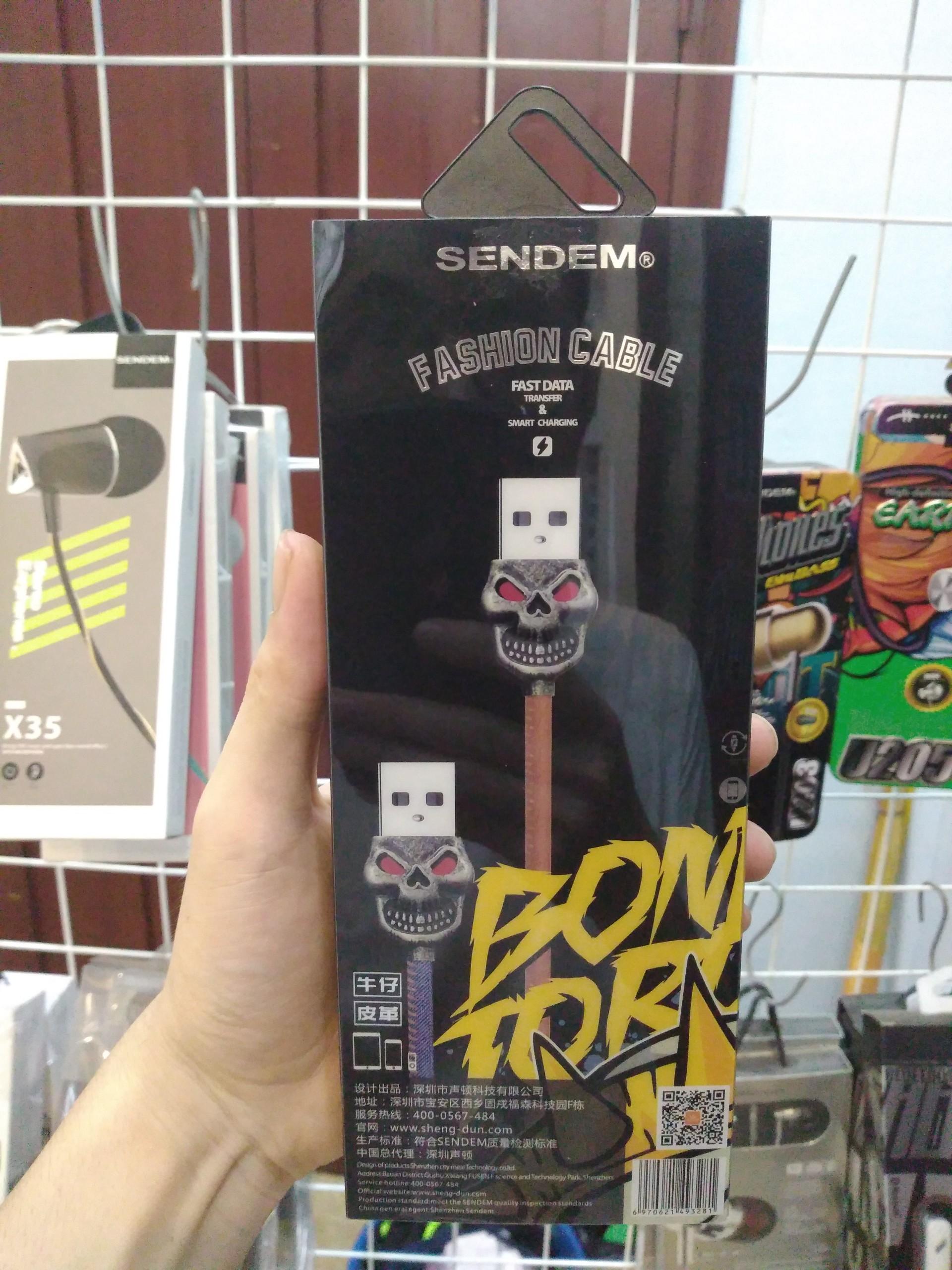 Cáp sạc MicroUSB King Kong Sendem T5 sạc nhanh bọc vải cao cấp - Hàng chính hãng