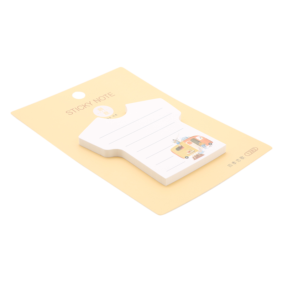 Lốc 4 Xấp Giấy Note No.1282 - Kiểu Hình Áo