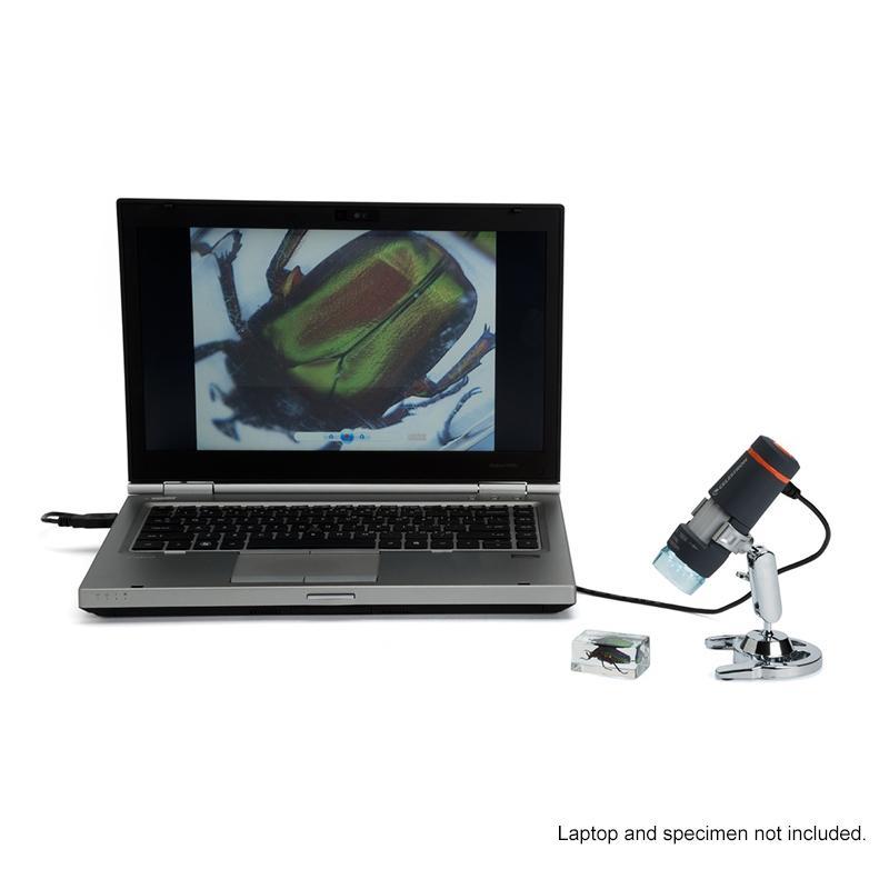 Kính hiển vi kỹ thuật số cầm tay Celestron chính hãng Mỹ, Kính hiển vi soi nổi kết nối được máy tính, kính hiển vi 44302-A