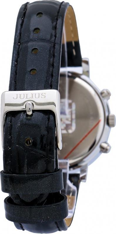 Đồng Hồ Nữ Julius Hàn Quốc Dây Da JA-828A JU1162 (Đen mặt trắng)