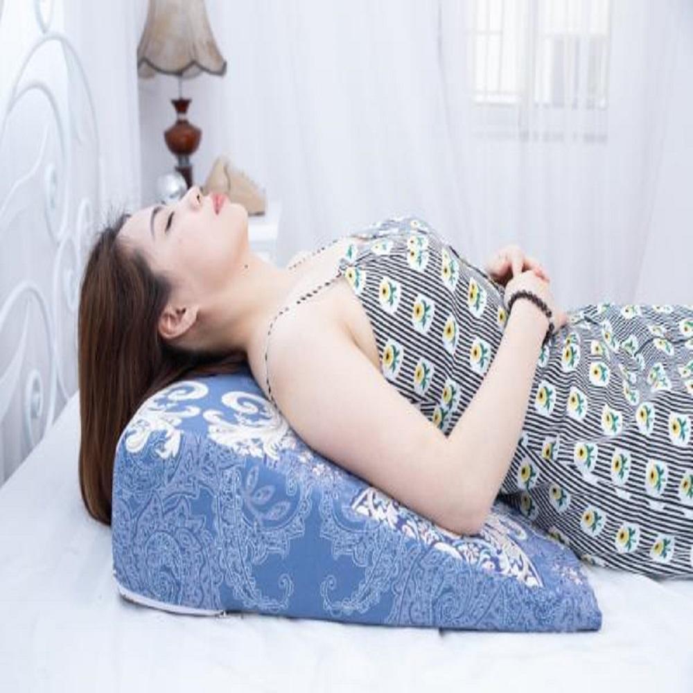 Gối chống trào ngược dạ dày dành cho người lớn YOROKOBI 16cm bo tròn đỉnh hỗ trợ chống trào ngược, giảm ngáy, giảm xoang-Hoàng Gia