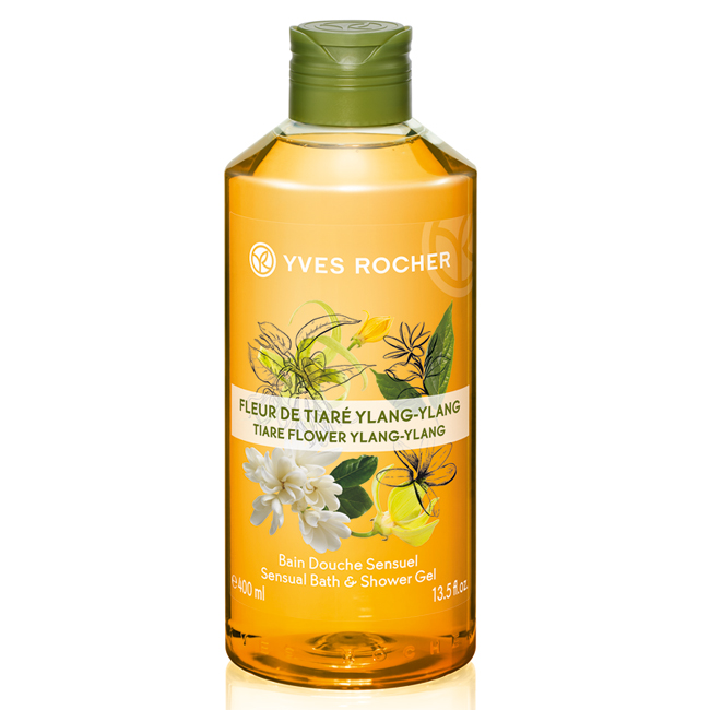 Sữa Tắm Yves Rocher Tiare Flower & Ylang - Ylang Sensual Bath & Shower Gel 400ml