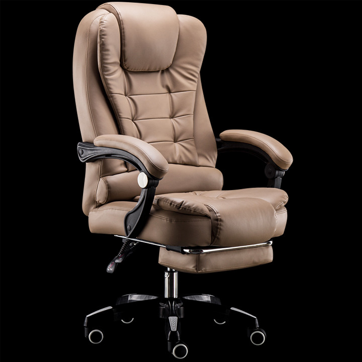 Ghế văn phòng - Ghế giám đốc - Ghế da cao cấp kèm massage - Ghế da - Ghế da - Ghế massage - Nâu - Có massage