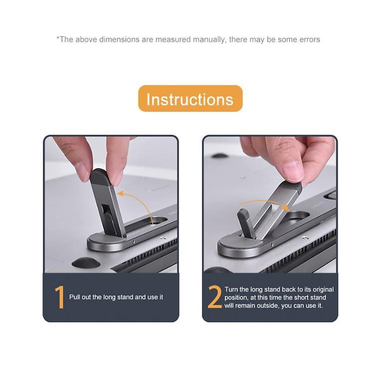 Đế tản nhiệt CNC Siêu mỏng Cho Macbook - Laptop