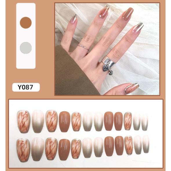 Bộ 24 móng tay giả nail thơi trang như hình (Y-087)