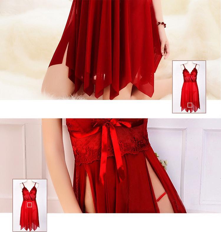 Váy Ngủ Xẻ Tà + Quần Lót Sexy Chất Đẹp