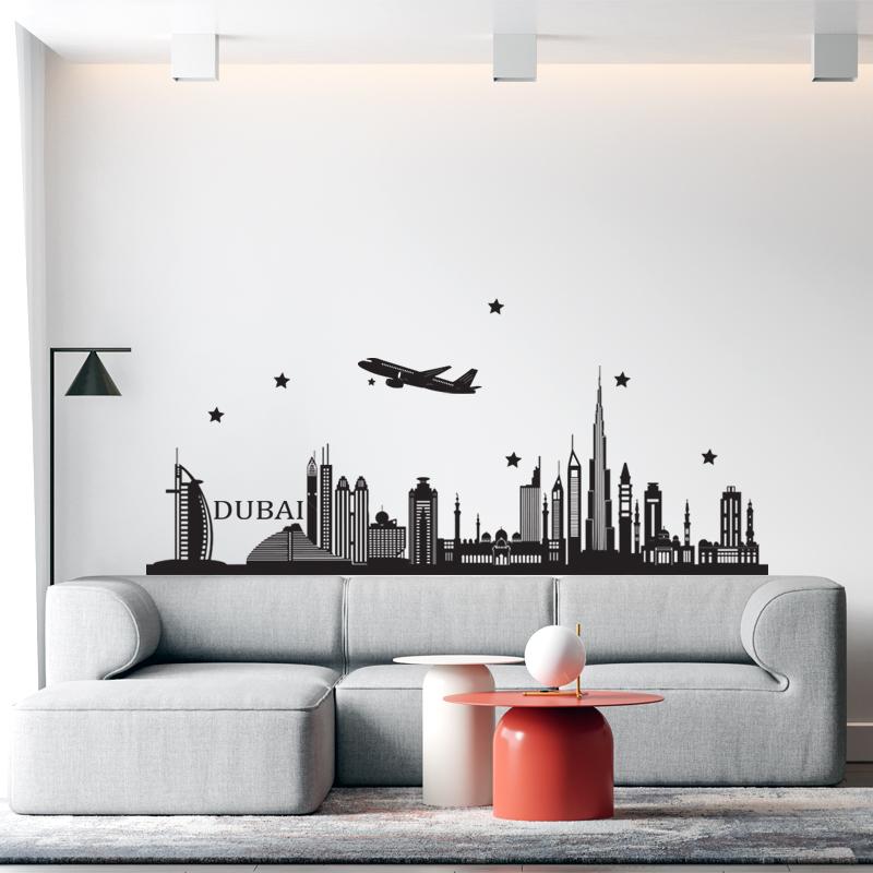 Decal Dán Trang Trí Phòng   Tranh Dán Tường Chủ Đề Thành Phố Dubai