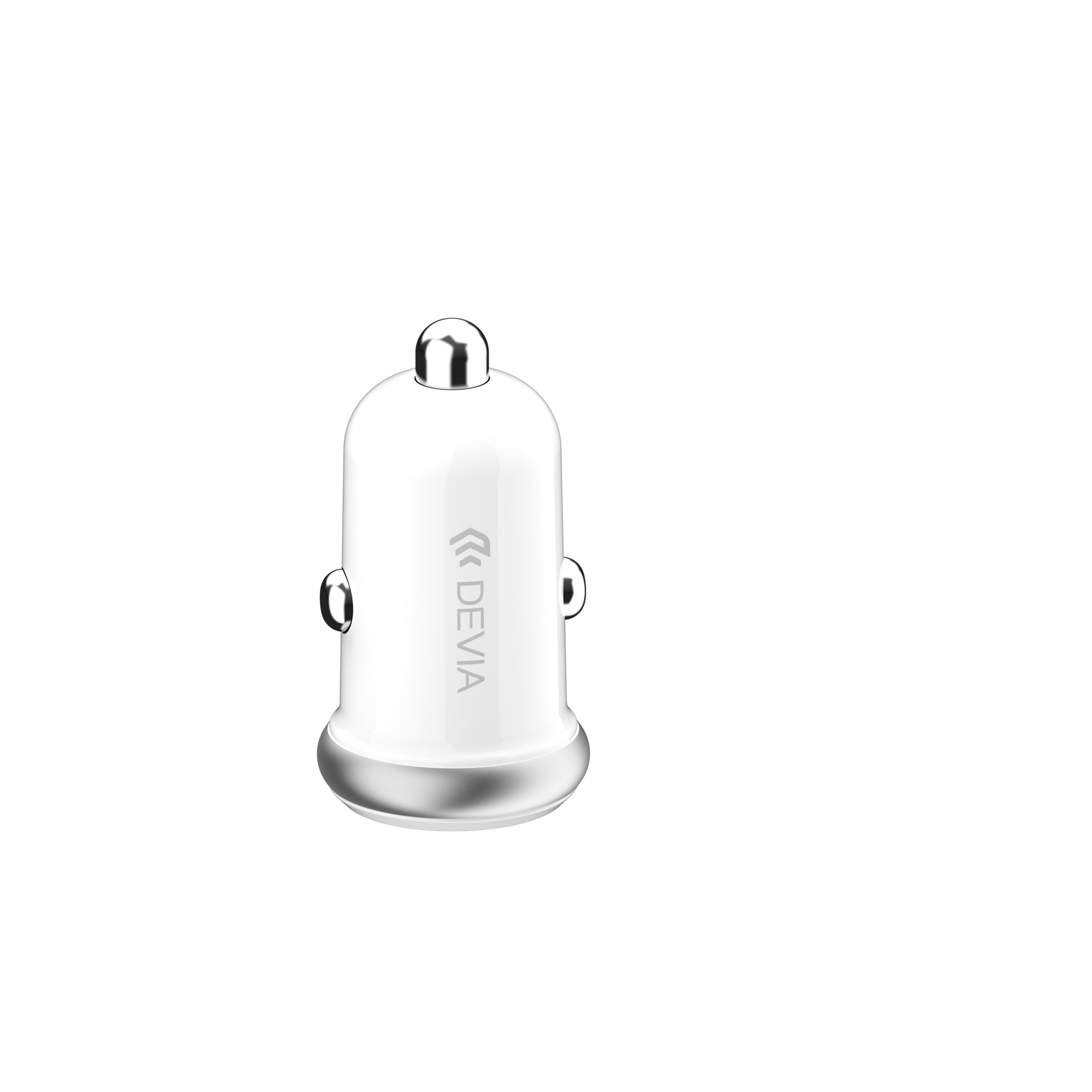 Sạc trên xe hơi Devia Smart mini 2 cổng USB - Hàng Chính Hãng
