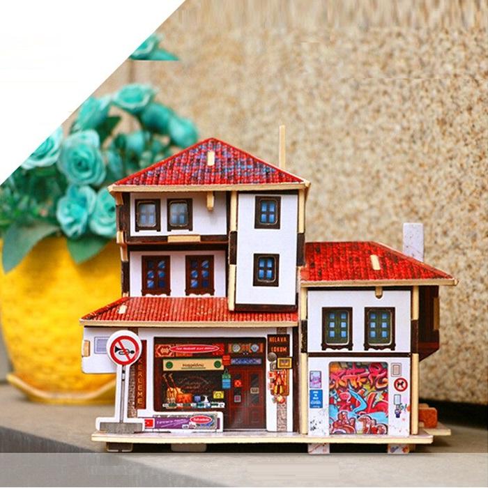 Đồ chơi lắp ráp gỗ 3D Mô hình Turkey Souvenir Store F143
