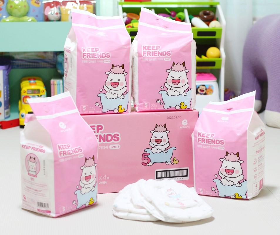 Tã quần nội địa Hàn Quốc - Keep Friend size 5 bé gái (XL 22 miếng)