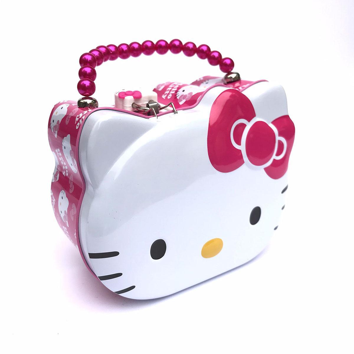 Hộp Tiết Kiệm Tiền Hello Kitty Có Khóa - Két Sắt Mini Kích Thước 15x15x8cm