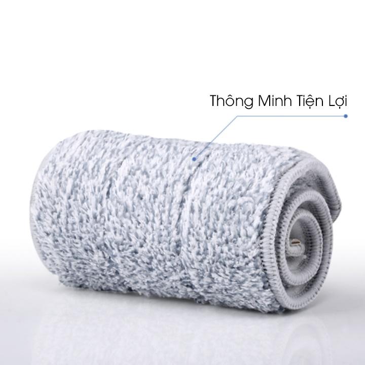 Cây lau nhà xoay 360 độ, chất liệu vải bông loại sạch bụi bẩn ML21