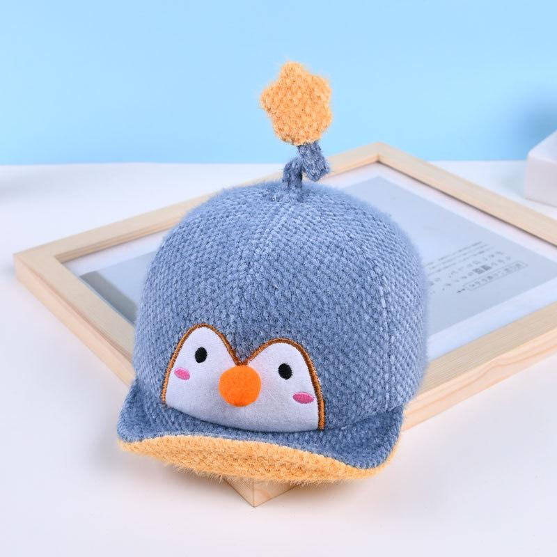 Mũ nón lưỡi trai thu đông cho bé trai bé gái hình Chim CÁNH CỤT có gắn ngôi sao cho bé từ 6 tháng đến 2 tuổi