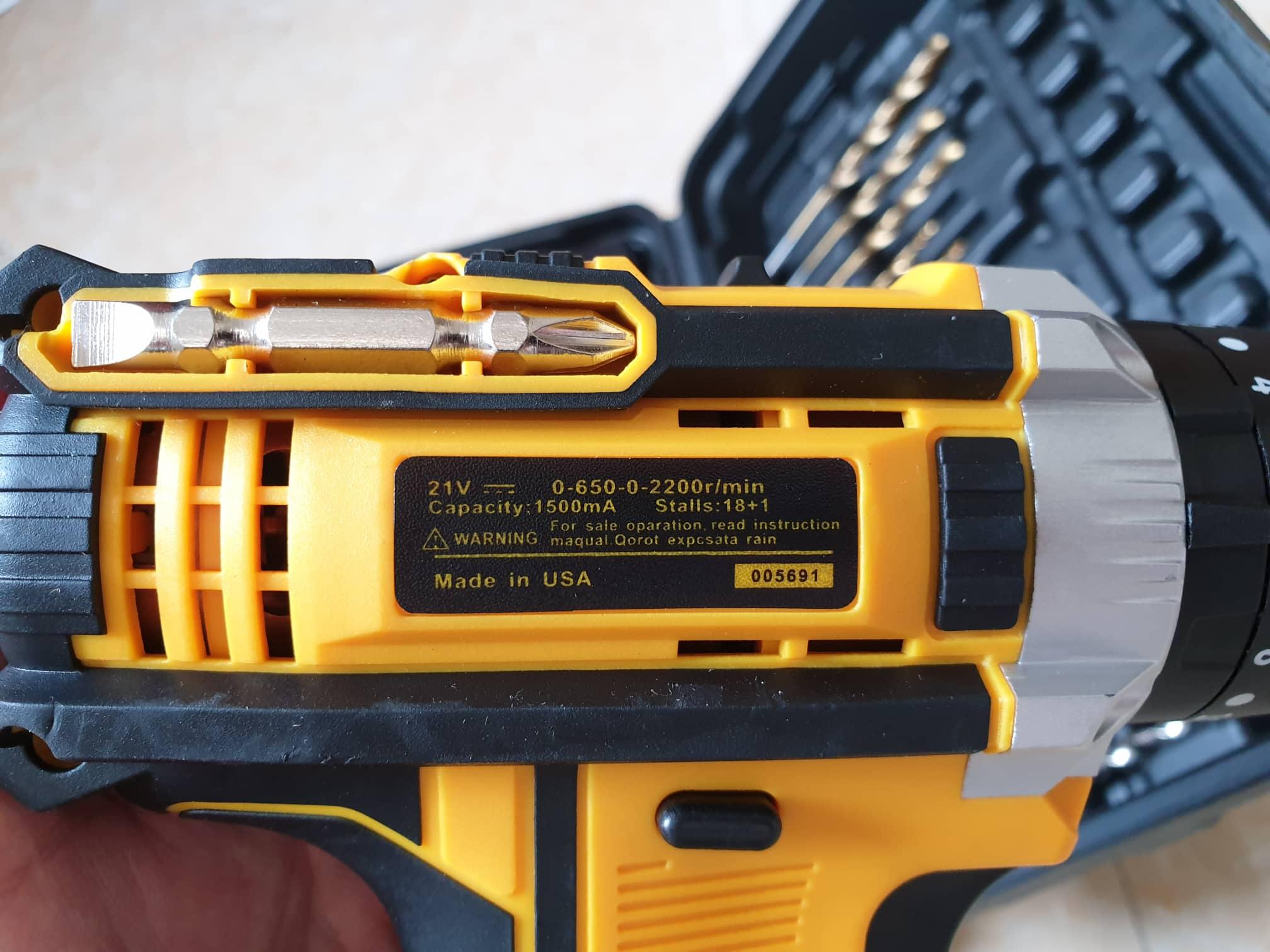 Bộ máy khoan pin 21V khoan tường, khoan sắt, khoan bê tông máy 2 pin, đảo chiều và mũi khoan