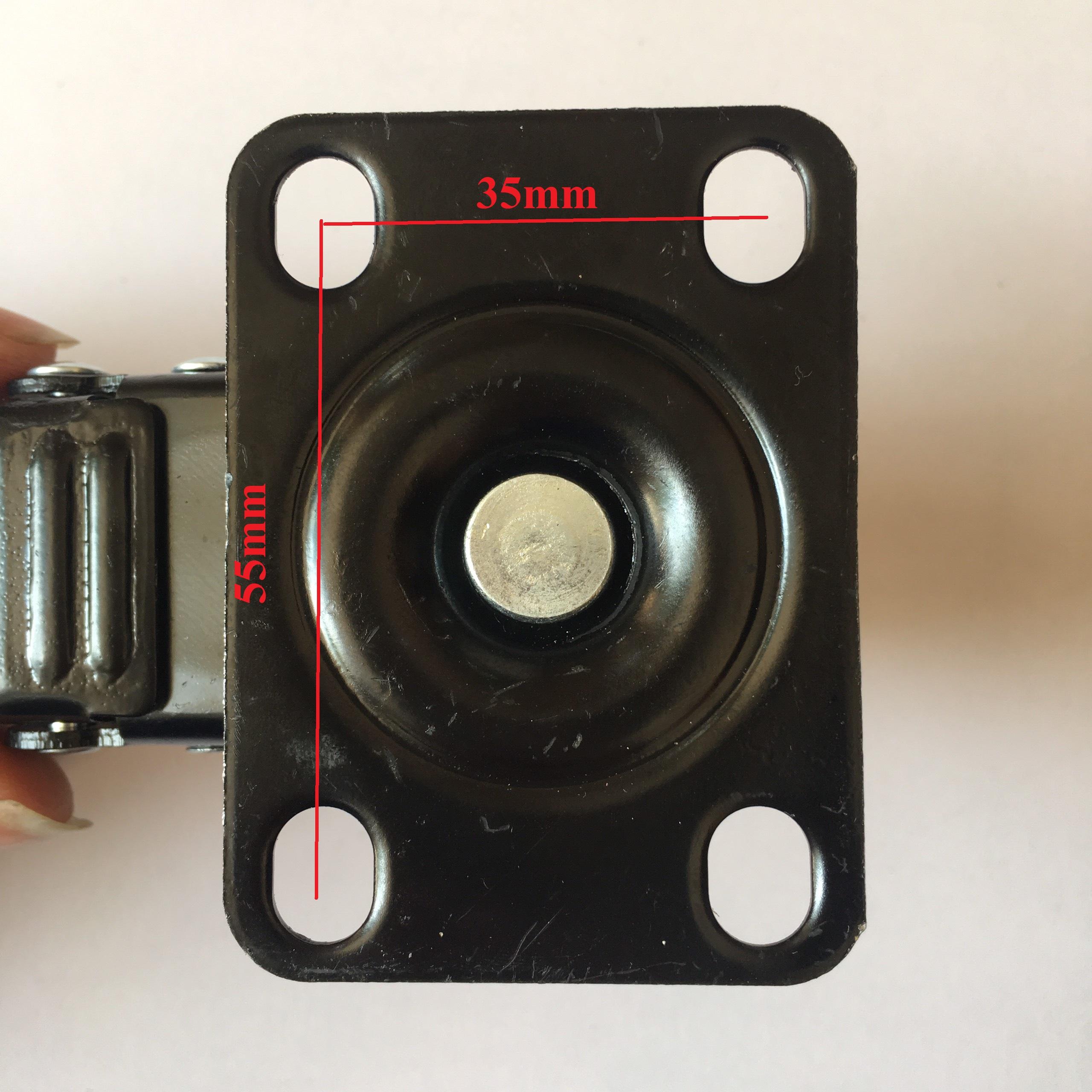 Combo 4 bánh xe đẩy cao cấp chịu tải trọng cao, KT 50x25mm - Tặng 05 nút bịt ổ điện an toàn cho trẻ