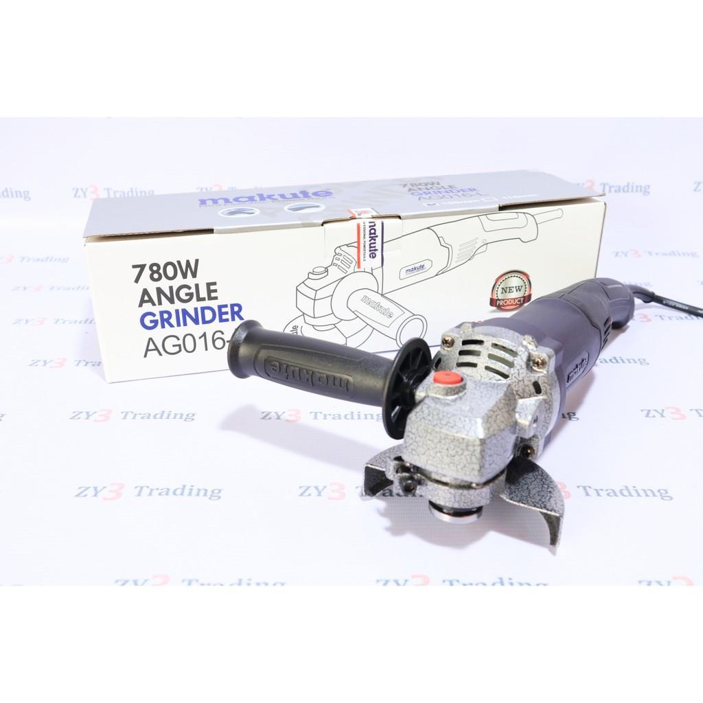 Máy mài 100mm tay dài Makute AG016-L 780W (Công tắc bóp)