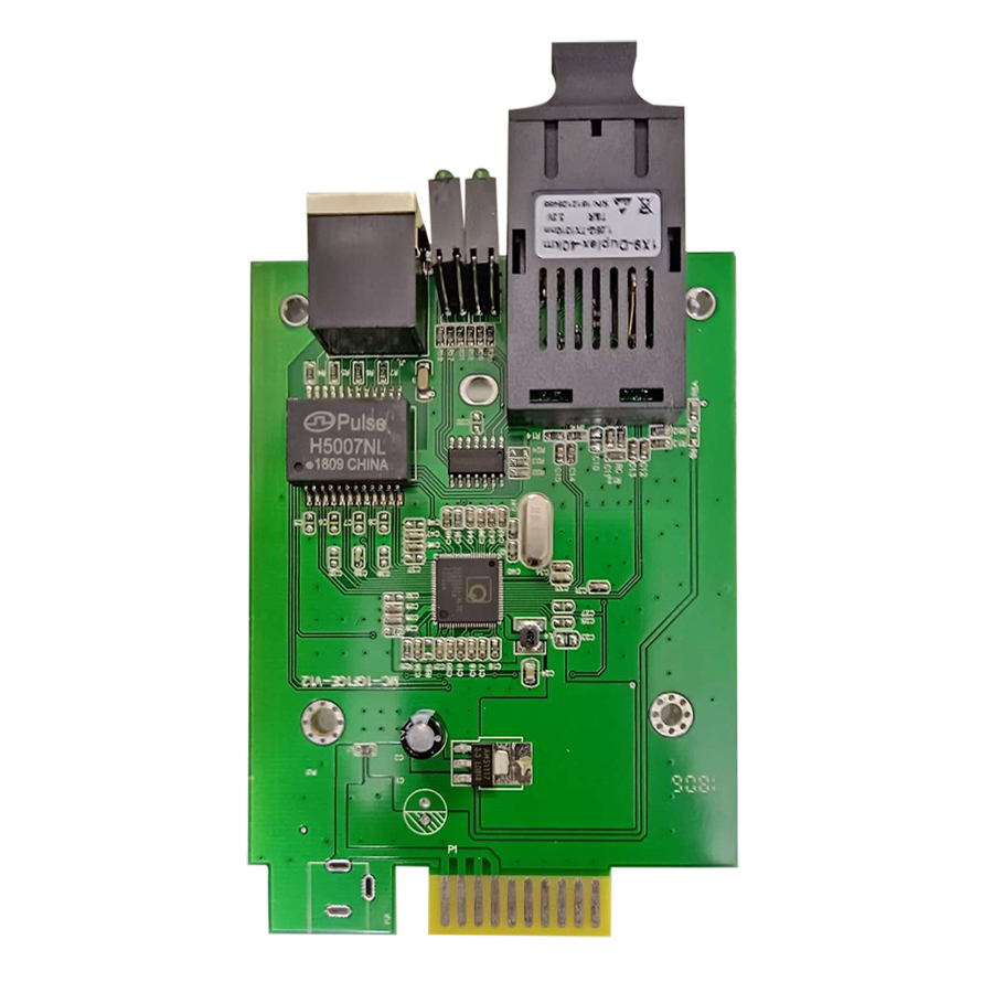 Card Converter Quang 1Gb Netlink Single Mode Dùng 2 Sợi Quang (25Km) - Hàng Nhập Khẩu