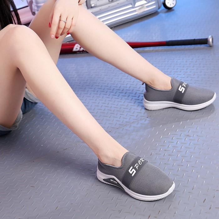 Giày Lười Nữ 3Fashion Dáng Thể Thao Vải Cao Cấp Nhẹ Êm - 3212