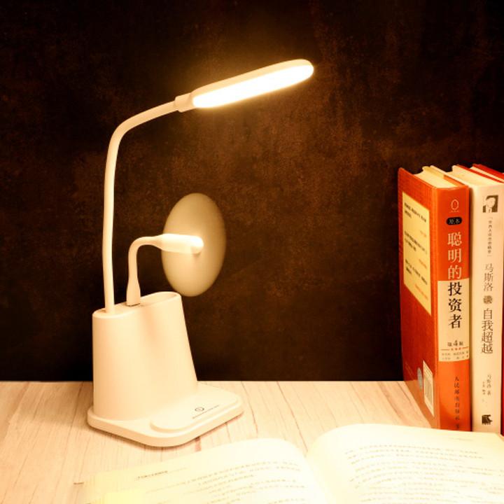 Đèn đọc sách - Đèn để bàn - Đèn đọc sách kèm giá đỡ điện thoại - Đèn học- Giao Màu Ngẫu Nhiên