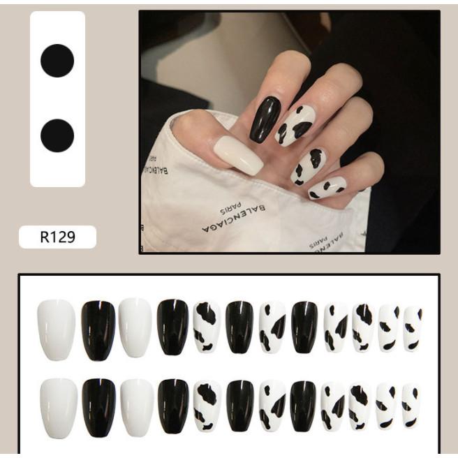 Bộ 24 móng tay giả nail thơi trang như hình (R-129)