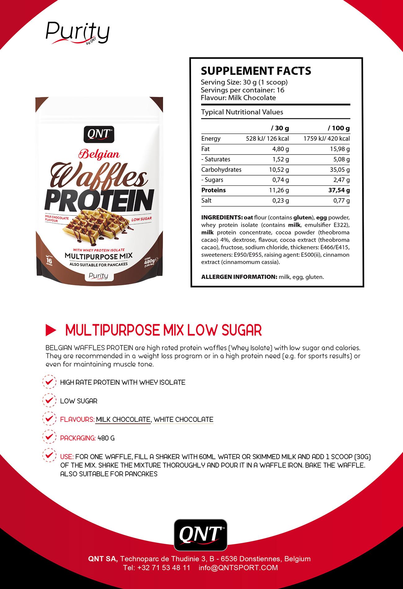 Thực phẩm chức năng QNT bánh Protein vị Socola sữa Bỉ
