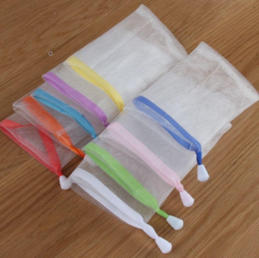 [COMBO 3 Chiếc] Túi lưới đựng xà bông tắm 2 lớp - Túi tạo bọt xà phòng - Giao màu ngẫu nhiên